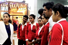 ZEFT Aviation Students near the Self check-in area at Chennai airport