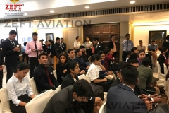 ZEFT Aviation Cabin crew students and other experienced cabin crew professionals at Qatar Airways Interview at Trident hotel, Chennai